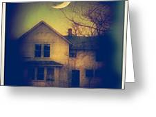 Haunted House Greeting Card by Jill Battaglia