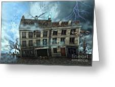 Haunted House Greeting Card by Jutta Maria Pusl