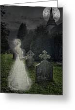 Haunting Greeting Card by Amanda Elwell