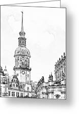 Hausmannsturm In Dresden Germany Greeting Card by Christine Till