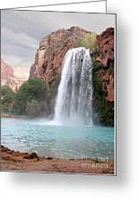 Havasu Waterfall Greeting Card by Chris Hill