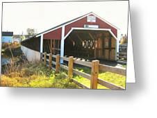 Haverhill-bath Covered Bridge Greeting Card