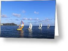 Hawaii Sailboats Greeting Card