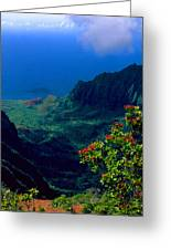 Hawaiian Cliffs Greeting Card
