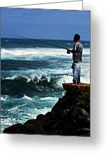 Hawaiian Fisherman Greeting Card