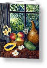 Hawaiian Still Life Greeting Card by Anne Wertheim
