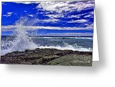 Hawaiian Surf Greeting Card