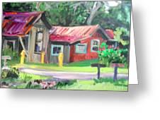 Hawaiian Tin Roofs Greeting Card