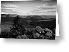 Hawk Mountain Sanctuary Bw Greeting Card