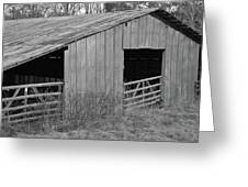 Hay Barn In The Back 40 Greeting Card
