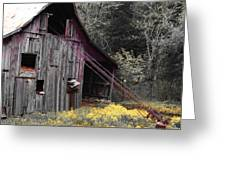 Hay Barn With Random Color Greeting Card