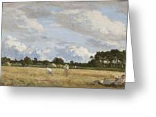 Haymaking Greeting Card by Eugene Louis Boudin