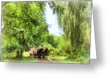 Hayride Greeting Card