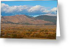 Haystack Autumn View Greeting Card