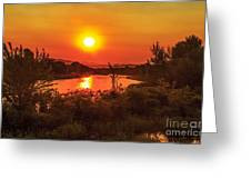 Hazy Sunrise Greeting Card