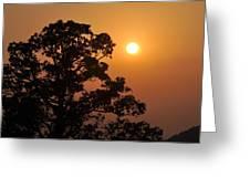 Hazy Sunset Greeting Card