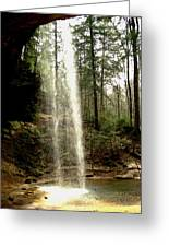 Hcking Hills Waterfall Greeting Card