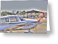 Hdr Airplane Looks Plane From Afar Under Canopy Greeting Card