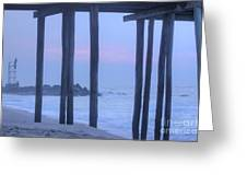 Hdr Beach Pier Ocean Beaches Art Photos Pictures Buy Sell Selling New Pics Sea Seaview Scenic   Greeting Card