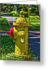 Hdr Fire Hydrant Greeting Card