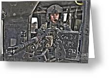 Hdr Image Of A Uh-60 Black Hawk Door Greeting Card
