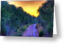 Hdr- Railroad Tracks Greeting Card
