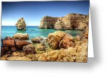 Hdr Rocky Coast Greeting Card