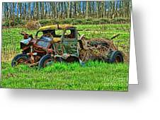 Hdr Wreck Greeting Card