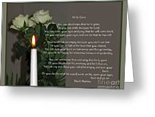 He Is Gone Greeting Card