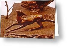 He Who Saved The Deer - Deer Detail Greeting Card