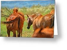 Heading Home Painterly Greeting Card