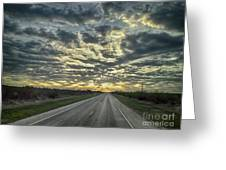 Heading Towards The Lights Greeting Card