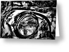 Headlights In The Woods Greeting Card