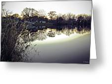 Hearns Pond Reflection Greeting Card