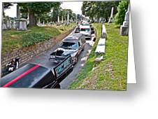 Hearses At Laurel Hill Cemetery Greeting Card