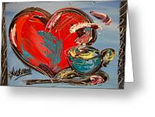 Heart Coffee Cup Greeting Card
