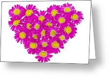 Heart From  Pink Daisies Greeting Card