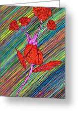 Heart Made Of Roses Greeting Card