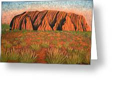 Heart Of Australia Greeting Card by Lisa Frances Judd