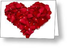 Heart Of Petals Greeting Card