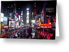 Heart Of Times Square Greeting Card