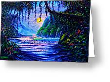 Heart Path To Paradise Greeting Card by Joseph   Ruff