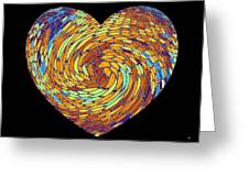 Heartline 8 Greeting Card by Will Borden