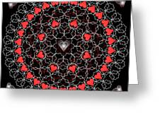 Hearts And Lace 2012 Greeting Card