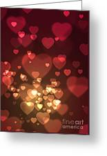 Hearts Background Greeting Card