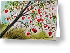 Hearts Grow On Trees Greeting Card