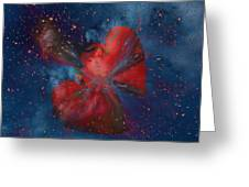 Hearts In Space Greeting Card
