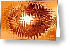 Heat Wave - Abstract Art Greeting Card
