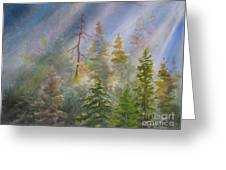 Heavenly Rays Greeting Card