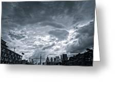 Heavy Sky Greeting Card by Luba Citrin